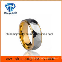 Men Stye Single Luxury Gold Plating Ring Tungsten Ring