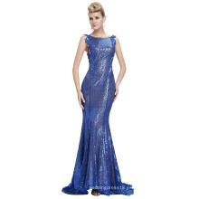 Starzz sin mangas azul sin espalda vestido de bola cequis formal vestido de noche ST000072-3