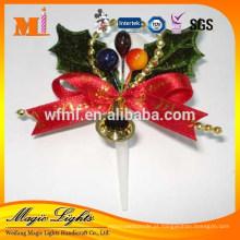 Decorações de bolo de plástico bonito de alta qualidade para feliz Natal