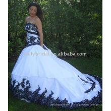 Whrite Crystal Beading Full Length Custom Made Designs Long Evening Party vestido chiffon flor menina vestido padrões mais tamanho