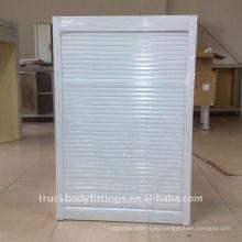 Gabinete de aluminio puerta del enrollador del rodillo puerta enrollable