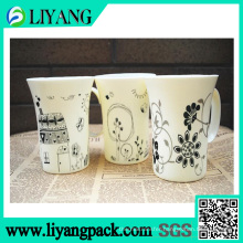 Simple Different Black Design, Heat Transfer Film for Plastic Mug