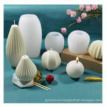 Diy Handmade Rhombus Geometric Diamond Plaster Mould Silicone Molds Candle Making