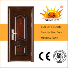 Puertas de apartamentos de seguridad de acero estándar