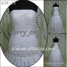 RSW-14 2011 Hot Sell New Design Ladies Fashionable Elegant Customized With Jacket Beautiful Lace Real Bridal Dress