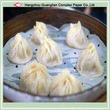 Papel de Cozinha Siliconizado Antiaderente para Dim Sum Chinês