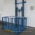 5m Hydraulic Cargo Lift Vertical Warehouse Cargo Elevator Guide Rail Lift Tables