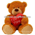 lindo oso de peluche valentine felpa con Te amo corazón
