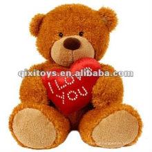lindo ursinho de pelúcia dos namorados com eu te amo coração