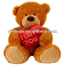милая плюшевая валентинка Мишка Тедди с сердцем я тебя люблю