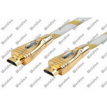 Luxuary Designed Golden Shining Plug HDMI Cable
