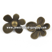 Flower shape alloy pendant jewelry
