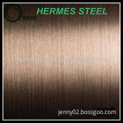red bronze stainless steel hairline sheet