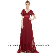 Вечерние Платья Гламурная Светло-Фиолетовый Двойной V-Образным Вырезом Вечернее Платье