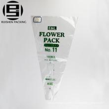 Transparent bopp plastic printed fresh flower bouquet sleeve bags