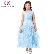 Grace Karin Sleeveless Ruffled Flower Girl Princess Bridesmaid Wedding Pageant Party Dress CL010407-1