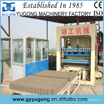 Yugong automatic & hydraulic press concrete brick making machine