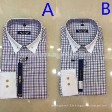 2014 Deux couleurs Tissus et chemisiers poitrines simples Chemises pour hommes avec manchette blanche Chemises décontractées pour hommes de haute qualité NB0580