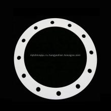 Белое уплотнительное кольцо, пластиковая прокладка из PTFE, фланец