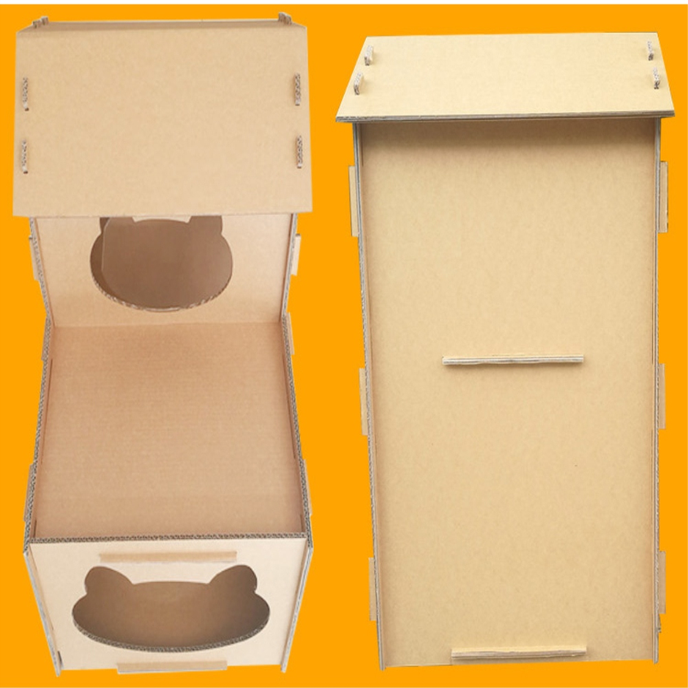 cardboard castle cat house