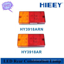 Tail, stop ,indicator multi-function lamp truck led tail light with number plate lamp