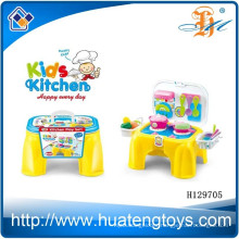 Cute design toy kitchen, cheap plastic kids kitchen set toy H129705