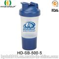 Бутылка 500 мл горячей продажи белка смарт-шейкер (HD-SB-500-5)