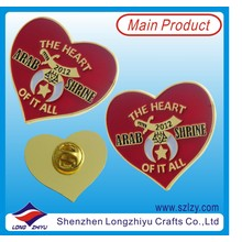 Custom Heart Shape Lapel Pin with Hard Enamel (LZY-10000287)