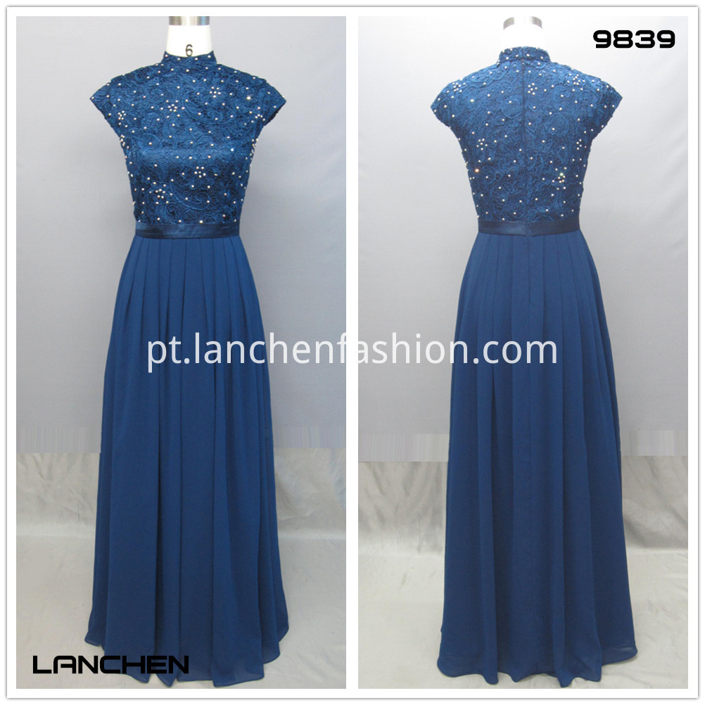 Plaid Blue elegant Long