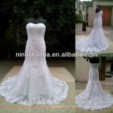 NW-431 Appliques Trompeta Real muestra vestido de novia 2014