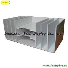 Cubbyhole de carton, casier de papier, papeterie de bureau, contre- étagère, Tableau PDQ (B & C-D040)