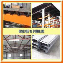 Equipamento de construção de estrutura de aço C / Z Purlin