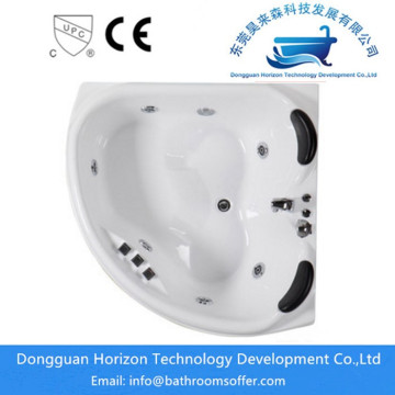 Corner massage whirlpool bathtub