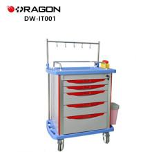 Carro de infusión DW-IT001 con cajones para equipos médicos