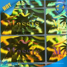 Preço de fábrica impressão a laser efeito guirlanda holograma adesivo adesivo reflexivo arco íris