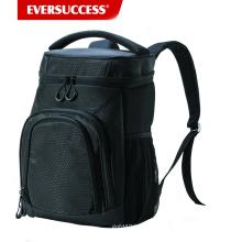 Изолированный охладитель рюкзак герметичный мягкий кулер для обеда, Пикник, Пешие прогулки, пляж, Парк, 24Can, черный (HCC0040)