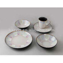 FDA 16pcs Stoneware Hand Painted Dinner Set