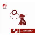 Wenzhou BAODI BDS-L8601Linkout tagout Bloqueio de segurança vermelho Bloqueio do cabo ajustável