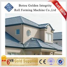 Panneau de toit en métal revêtu de pierre machine à former le rouleau
