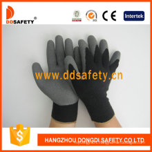 Cotton with Polyester Liner Crinkle Latex Glove Dkl337