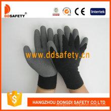 Хлопок с полиэстер лайнер Латекс crinkle перчатки Dkl337