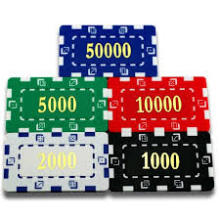 ABS, Clay, plastic rectangular poker chips