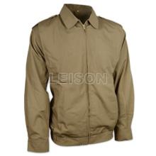 Jaqueta militar adota roupas finas de algodão 100% com costura de fio de nylon