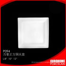 Fournitures de Guangzhou Eurohome assiettes en porcelaine blanche en gros