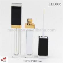 Com luz led e espelho LED tubo de brilho labial vazio