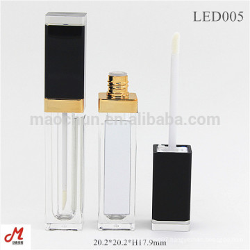 with led light and mirror LED empty lip gloss tube