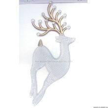 10см золото пластиковый крытый Рождественские украшения оленей
