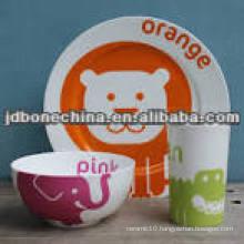 fine bone china children dinner set for kids