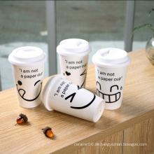 Neue Ankunft 2016 Steinzeug bunte volle Druck Starbuck Becher