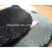 100% poliéster tecido flocado para estofos